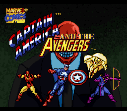 Captain America And The Avengers (SNES)  © Mindscape 1993   1/3