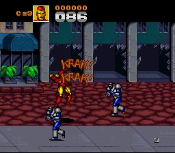 Captain America And The Avengers (SNES)  © Mindscape 1993   2/3