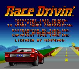 Race Drivin' (SNES)  © THQ 1992   1/3