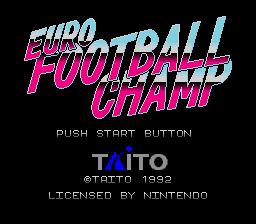 Euro Football Champ (SNES)  © Taito 1992   1/3
