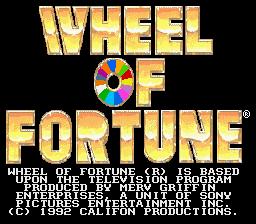 Wheel Of Fortune (SNES)  © GameTek 1992   1/3