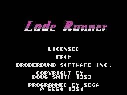 Lode Runner (SG1)  © Sega 1984   1/4