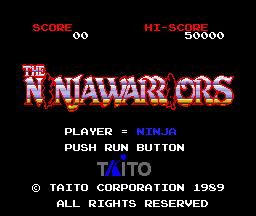 Ninja Warriors (PCE)  © Taito 1989   1/5
