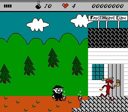 The Adventures Of Rocky & Bullwinkle And Friends (NES)   © THQ 1992    3/3