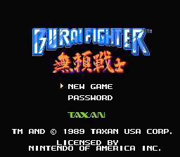 Burai Fighter (NES)   © Taxan 1990    1/3