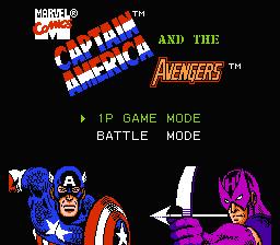 Captain America And The Avengers (NES)  © Data East 1991   1/3