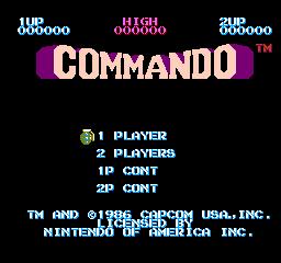 Commando (NES)  © Capcom 1986   1/3