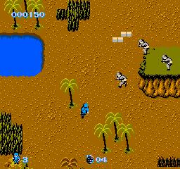 Commando (NES)  © Capcom 1986   2/3