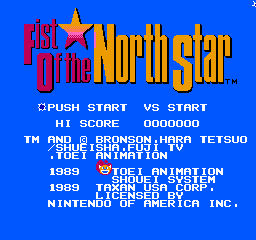 Fist Of The North Star (NES)   © Taxan 1987    1/3