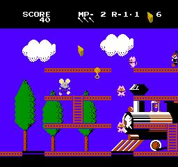 Mappy-Land (NES)  © Taxan 1986   2/3