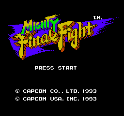 Mighty Final Fight (NES)   © Capcom 1993    1/3