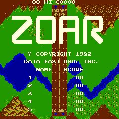 Zoar (ARC)  © Data East 1982   1/4