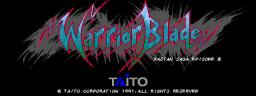 Warrior Blade: Rastan Saga Episode III (ARC)  © Taito 1991   1/14