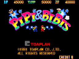 Pipi & Bibi's (ARC)  © Toaplan 1991   1/3