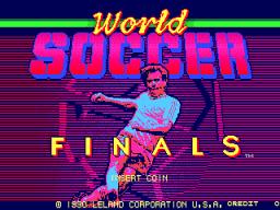 World Soccer Finals (ARC)  © Leland 1990   1/3