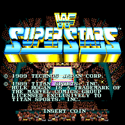 WWF Superstars (ARC)  © Technos 1989   1/4