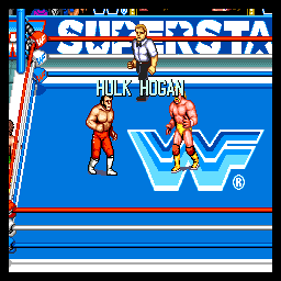 WWF Superstars (ARC)  © Technos 1989   2/4