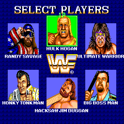 WWF Superstars (ARC)  © Technos 1989   4/4