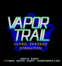 Vapor Trail: Hyper Offence Formation (ARC)  © Data East 1989   1/9