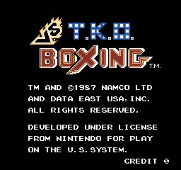 Vs. T.K.O. Boxing (ARC)  ©  1987   1/4