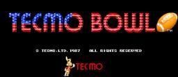 Tecmo Bowl (ARC)  © Tecmo 1987   1/3
