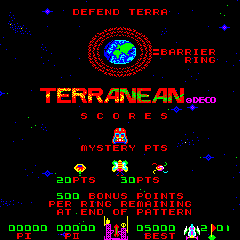 Terranean (ARC)   © Data East 1981    1/3