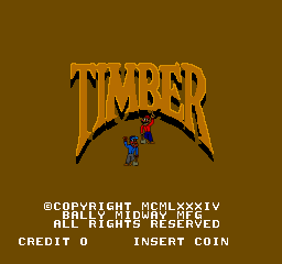 Timber (ARC)   © Midway 1984    1/3