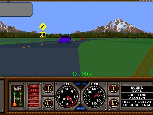 Hard Drivin' (ARC)  © Atari Games 1989   4/4