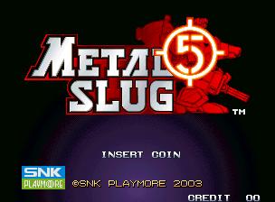 Metal Slug 5 (MVS)  © SNK 2003   20/23