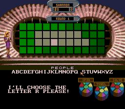 Wheel Of Fortune (SMD)  © GameTek 1992   2/3