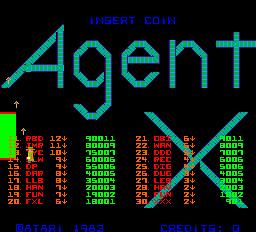 Agent X (ARC)  © Atari (1972) 1983   1/4