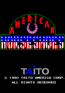 American Horseshoes (ARC)   © Taito 1990    1/4