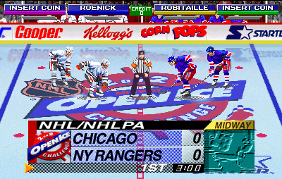 NHL Open Ice: 2 On 2 Challenge (ARC)  © Midway 1995   4/6
