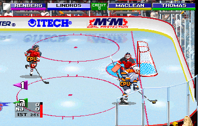 NHL Open Ice: 2 On 2 Challenge (ARC)  © Midway 1995   6/6