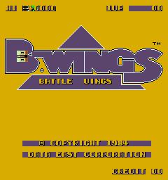 B-Wings (ARC)  © Data East 1984   1/5