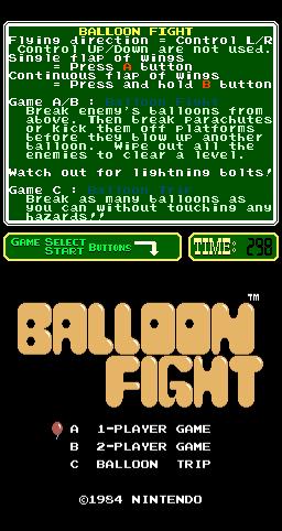 Balloon Fight (ARC)  © Nintendo 1986   1/3