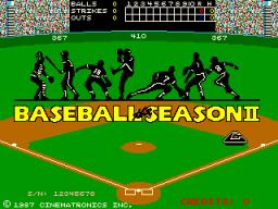 Baseball The Season II (ARC)  © Cinematronics 1987   1/3