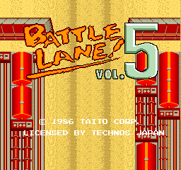 Battle Lane Vol. 5 (ARC)  © Taito 1986   1/7