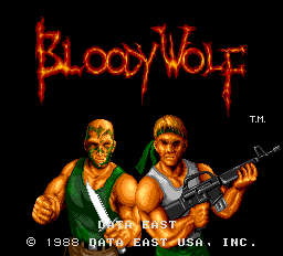 Bloody Wolf (ARC)  © Data East 1988   1/6