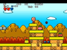 Bonk's Adventure (ARC)  © Kaneko 1994   2/4