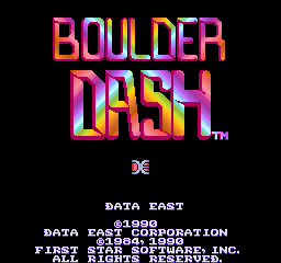 Boulder Dash (1990) (ARC)  © Data East 1990   1/3