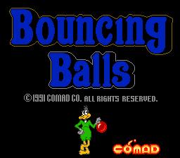 Bouncing Balls (ARC)  © Comad 1991   1/3