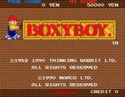 Boxy Boy (ARC)  © Namco 1990   1/4