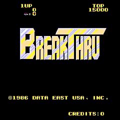 BreakThru (ARC)  © Data East 1986   1/3