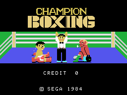 Champion Boxing (ARC)   © Sega 1983    1/3