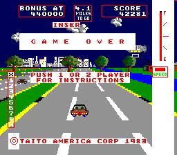 Change Lanes (ARC)  © Taito 1983   3/3