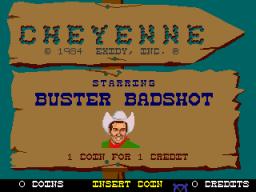 Cheyenne (ARC)  © Exidy 1984   1/3