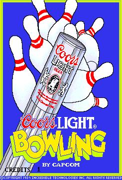 Coors Light Bowling (ARC)  © Capcom 1989   1/3