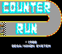 Counter Run (ARC)  © Sega 1988   1/3