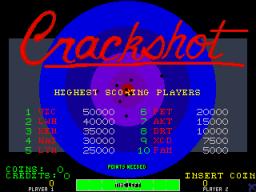 Crackshot (ARC)  © Exidy 1987   1/4